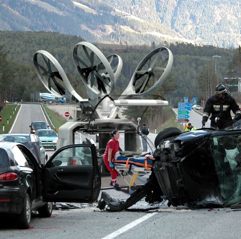 У США розробили концепт використання дронів для екстреної допомоги на дорогах